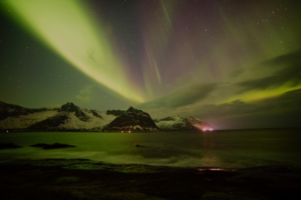 Nordlicht auf Senja, Norwegen