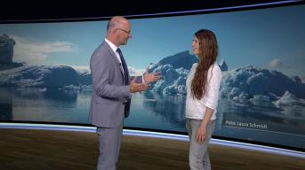 Klimawandeldiskussion im ARD Wetterstudio mit Karsten Schwanke