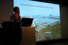 Vortrag auf dem Schiff in West Grönland