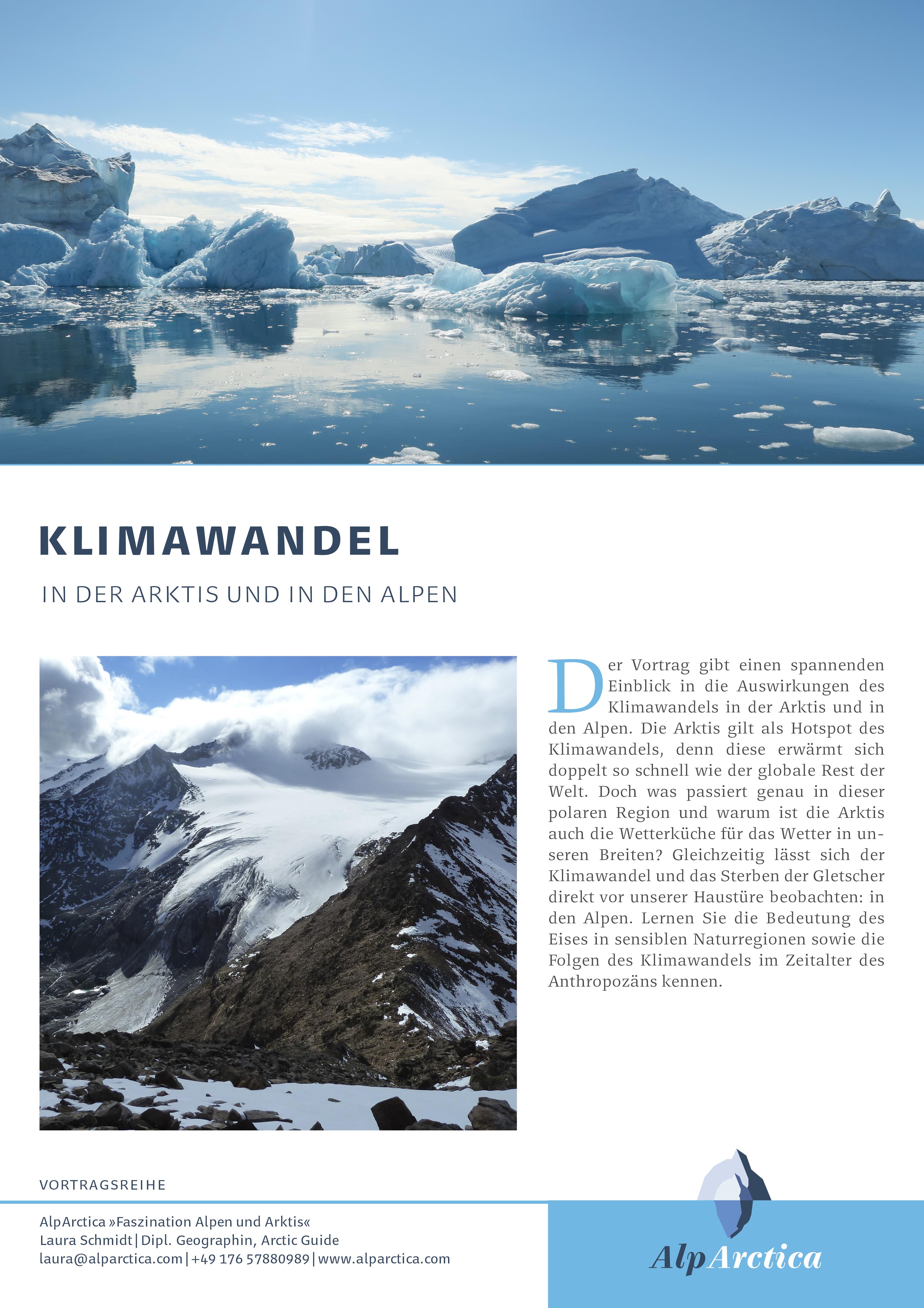 Klimwandel in der Arktis und in den Alpen